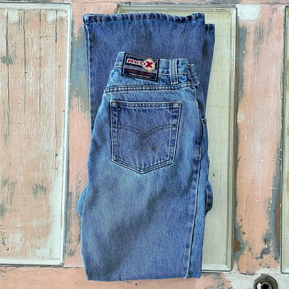 26w VTG Red X flare Jeans